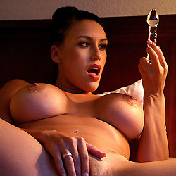 Glass And Hitachi - Big Tits, Brunette, Toys, Shaved, Close-ups